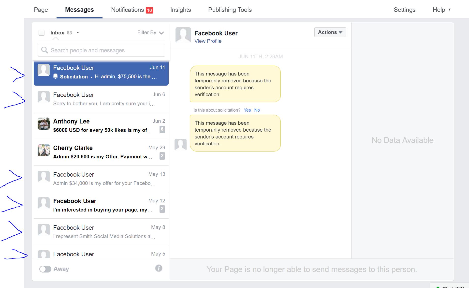 facebook solicitation